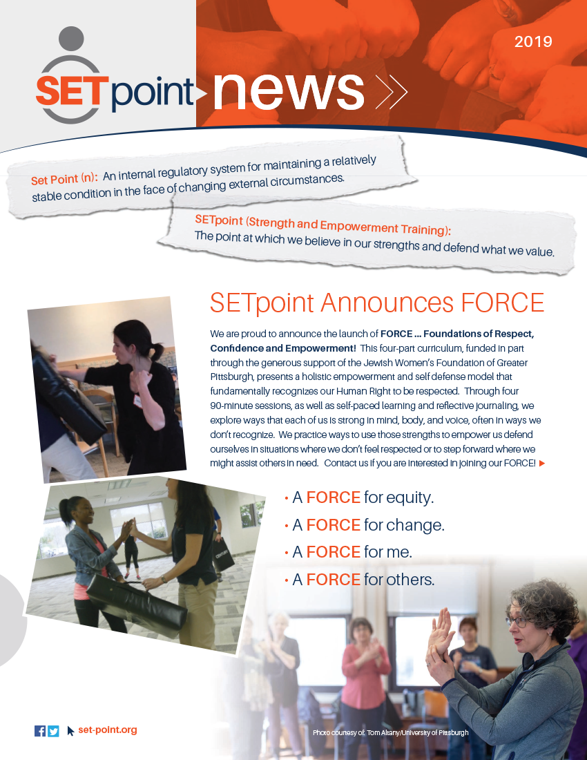 2019 - Read more about SETpoint's team, community support, and accomplishments.