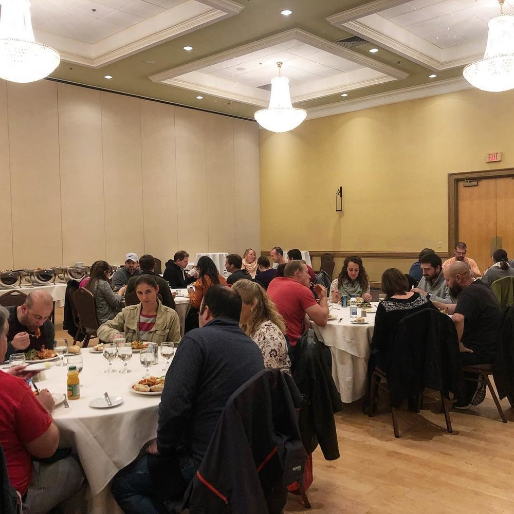We finished the day with a lovely dinner where our partners joined us.  A big thanks to George Banquet Hall for their incredible service and delicious food.