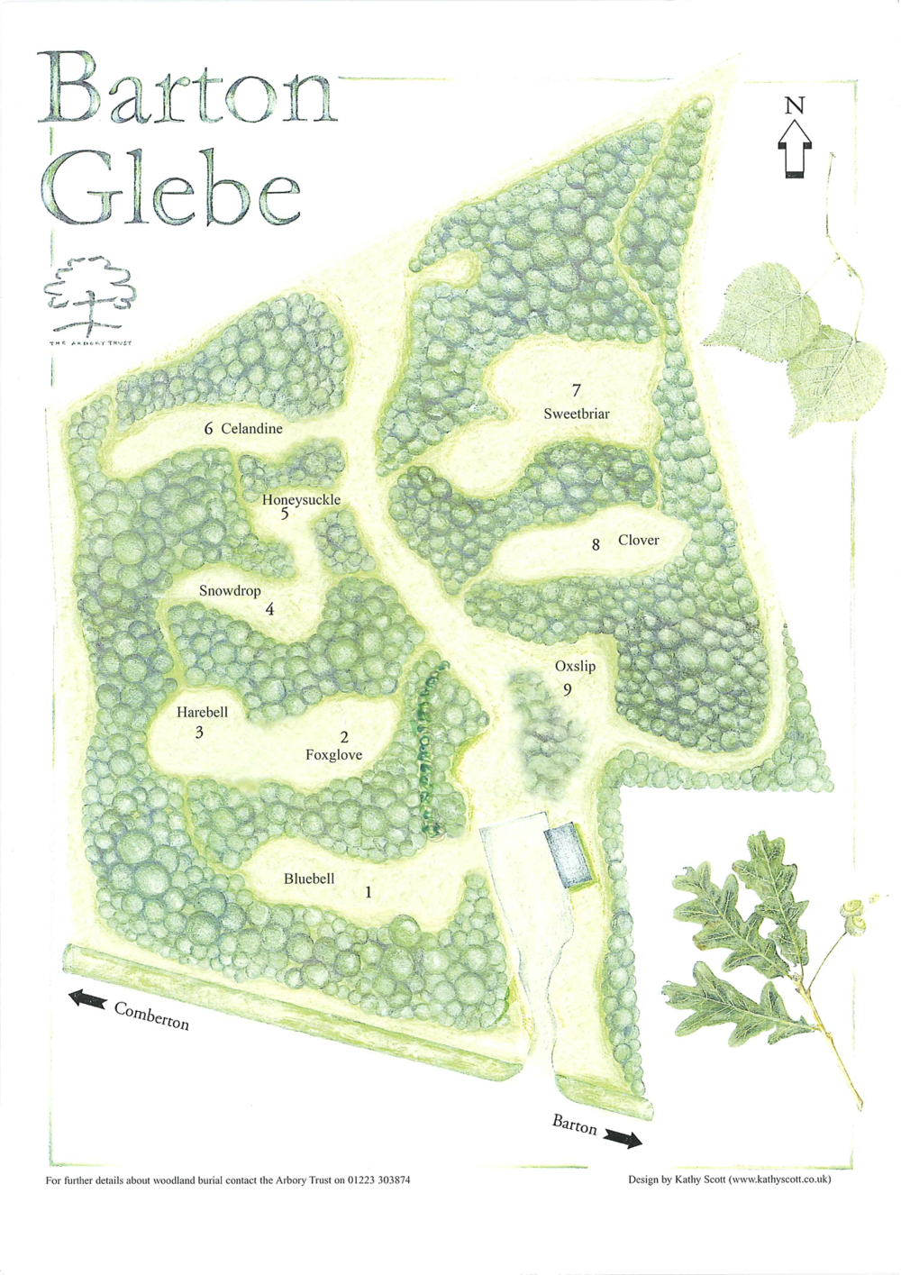 Woodland Burial Ground at Barton - South Glebe Layout
