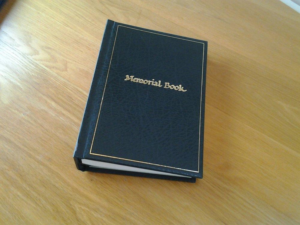 Woodland Burial Ground at Barton - Memorial Book at the Lodge