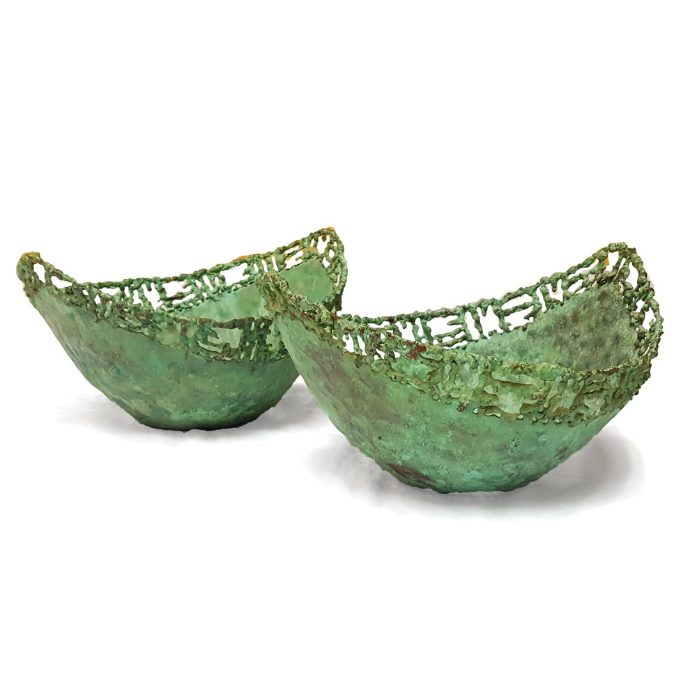 Circa Antiques | York, Pa | Showroom | Fantoni for Raymor Pierced Copper Bowls