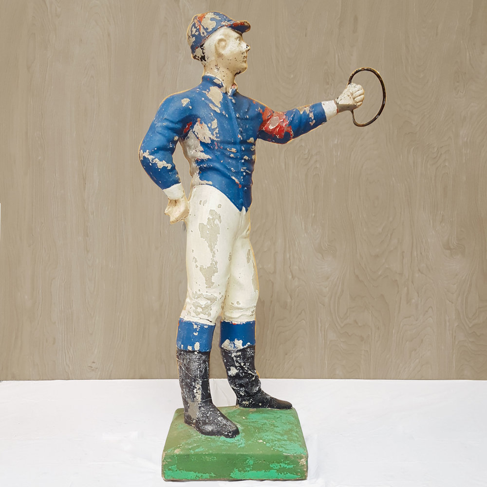 Circa Antiques | York, Pa | Showroom | Cast Cement Lawn Jockey