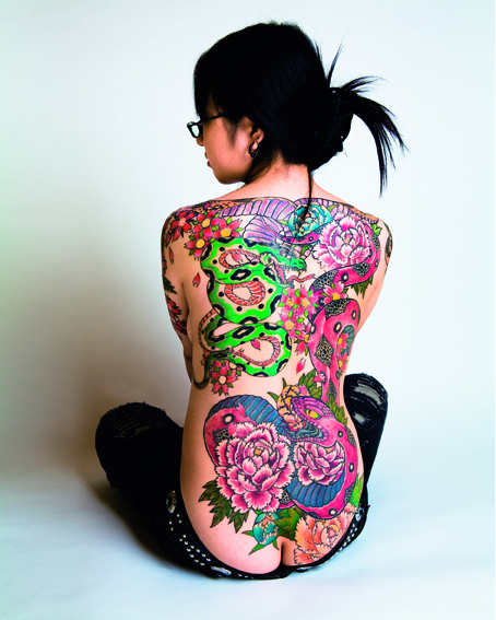 Japanese tattoo girl new style japanese tattoo