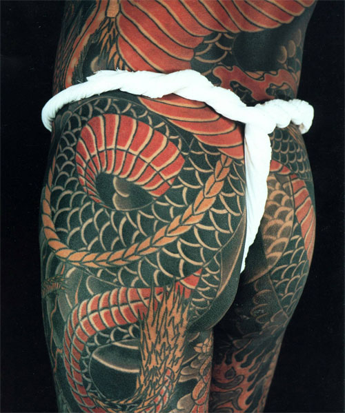 Japanese Tattoo dragon from the Japanese Tattoo book