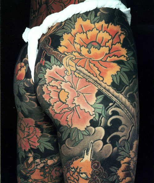 Japanese Tattoo flowers peony from the Japanese Tattoo book