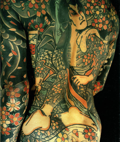 Japanese Tattoo full body suit from the Japanese Tattoo book