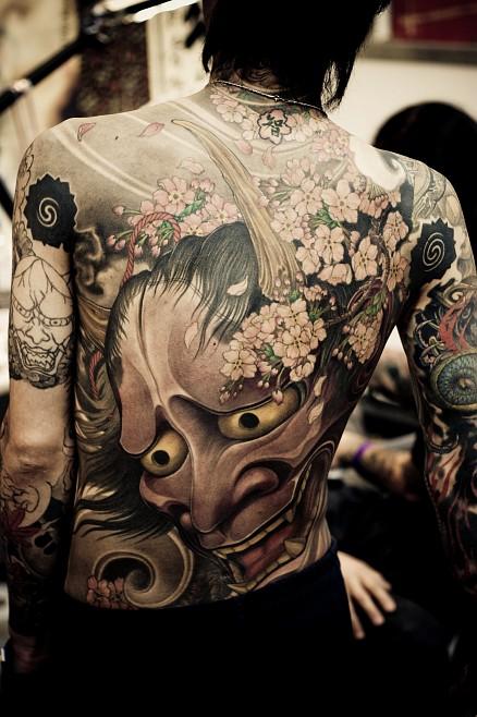 Shige, japanese Tattoo, Hanya Mask