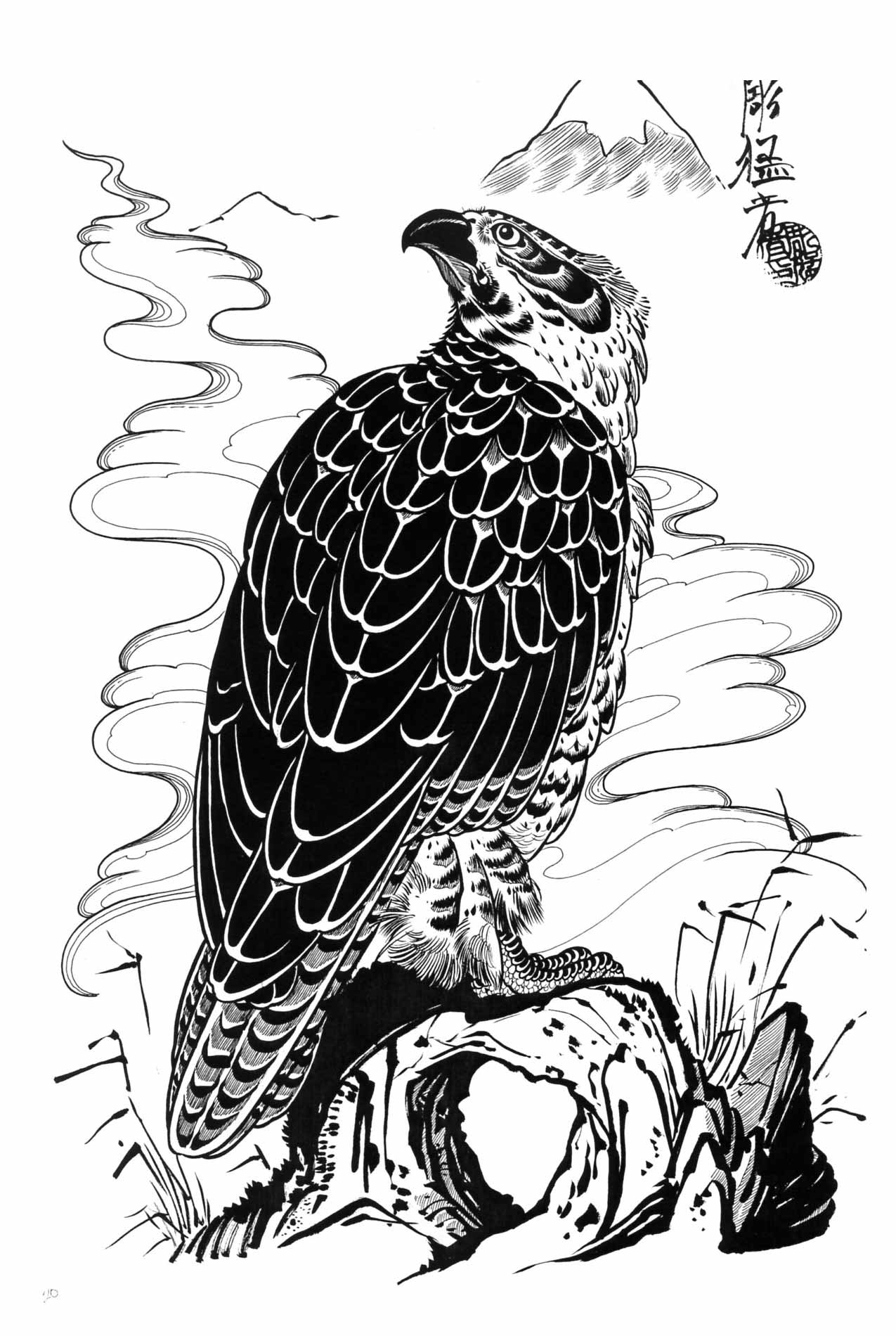 hawk Tattoo Design