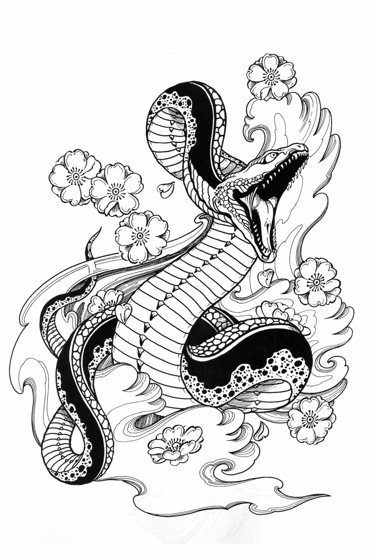 Snake Tattoo design