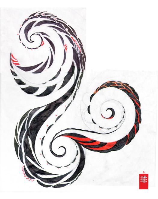 japanese_wave_tribal_tattoo_study