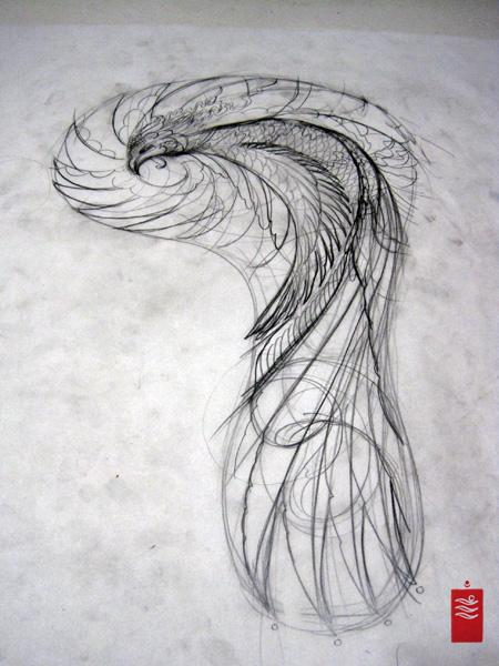 Phoenix tattoo sleeve concept
