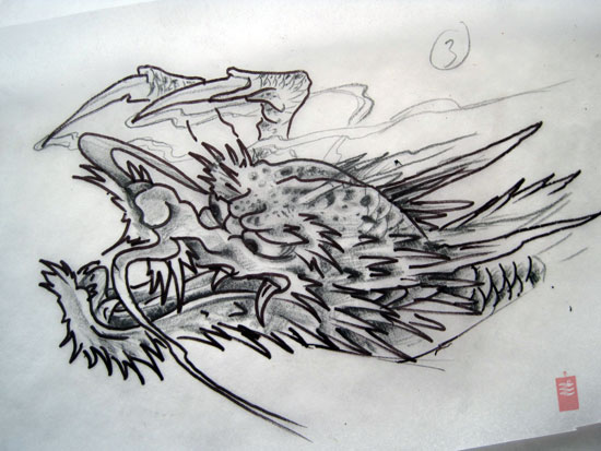 Dragon Head Tattoo Study