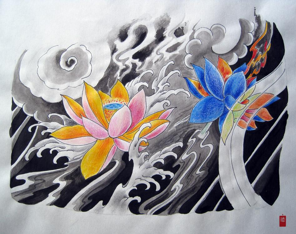 Lotus Flowers Tattoo
