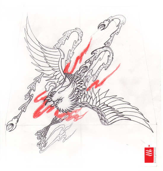Phoenix Tattoo Design Study