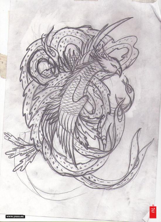 phoenix Tattoo Study