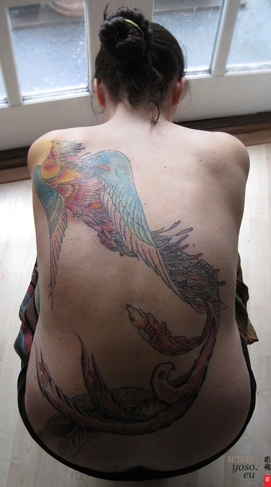 phoenix Back Piece Tattoo