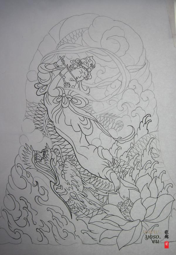tennyo japanese tattoo