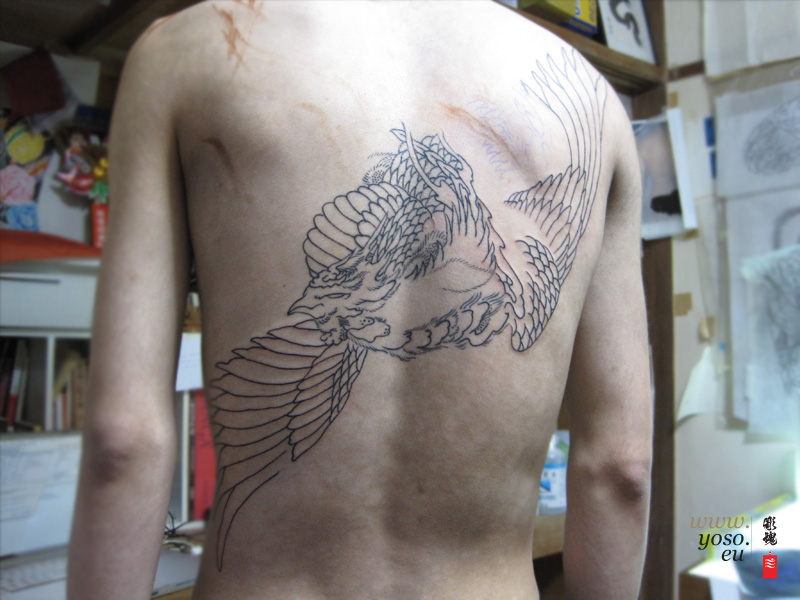 Phoenix Tattoo Back Piece