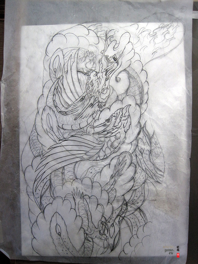 Dragon Phoenix Tattoo design