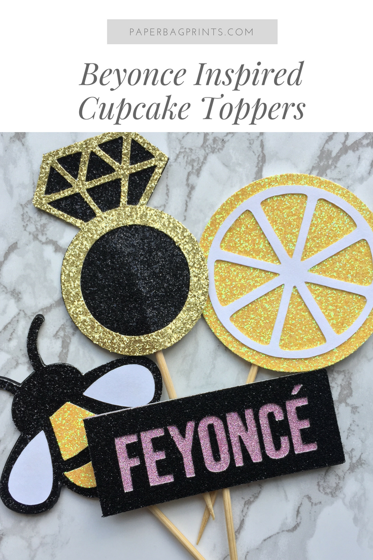 Beyonce Inspired Cupcake Toppers