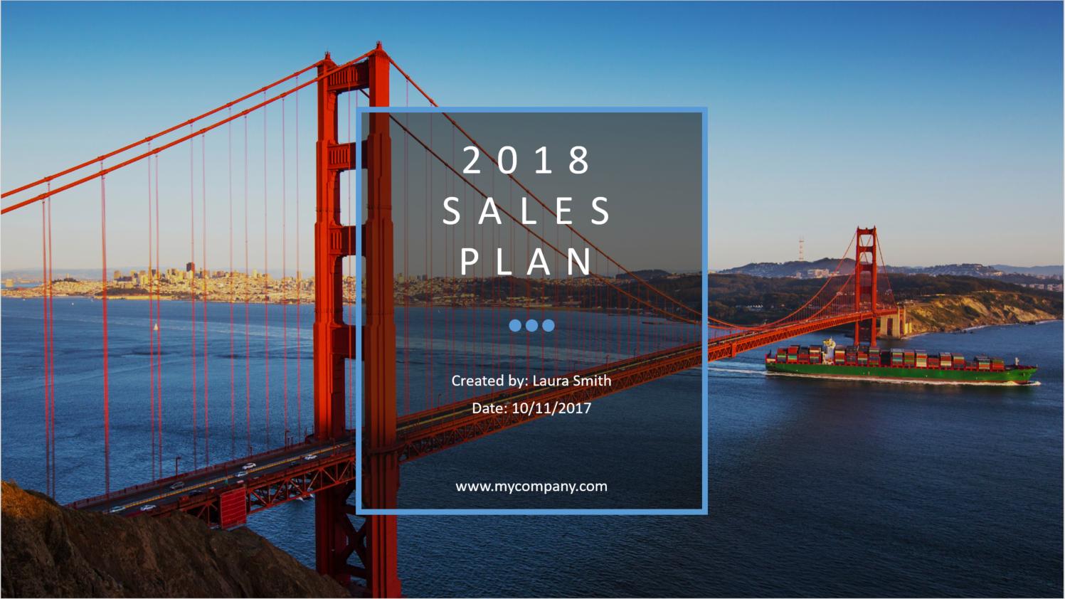 2018 sales plan template ptep - powerpoint — salesrake, Modern powerpoint