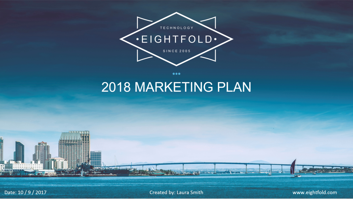 2018 marketing plan template powerpoint salesrake com