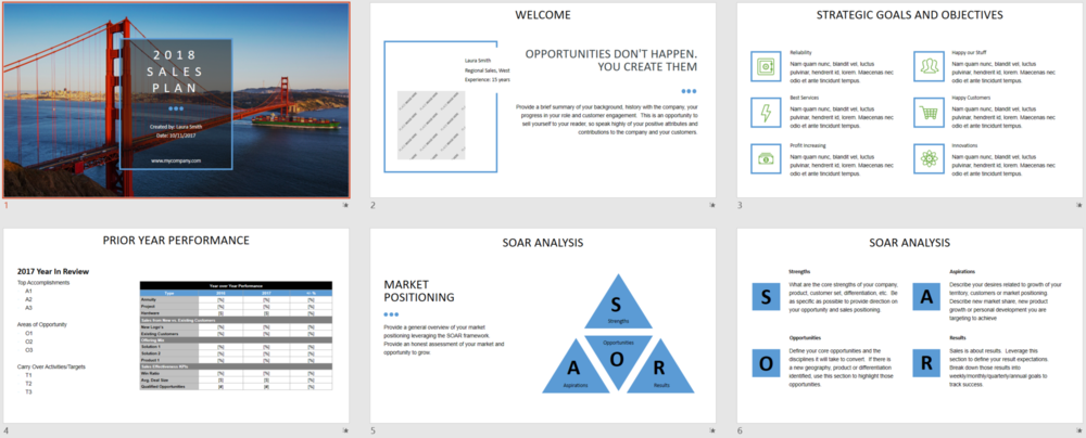 2018 Sales Plan Template PTEP   PowerPoint
