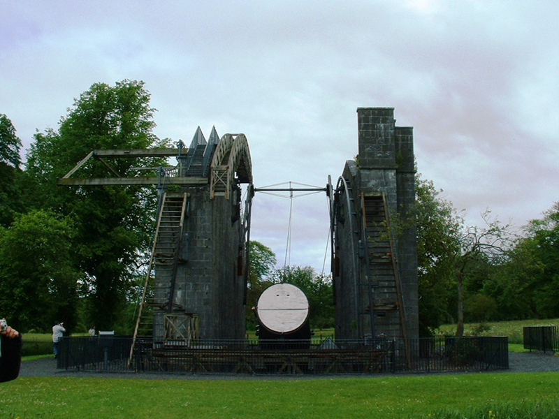 The leviathan telescope (c.1840) at Birr Castle, County Offaly