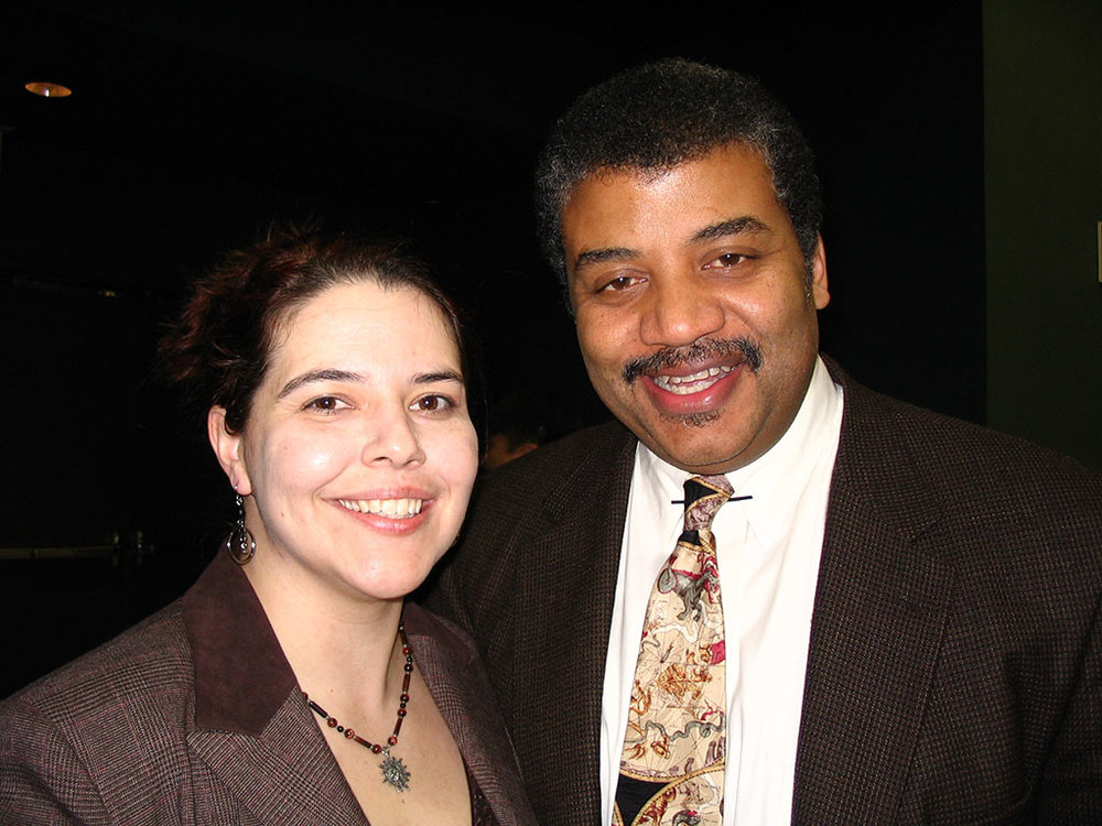 Pamela Gay and astrophysicist Neil deGrasse Tyson