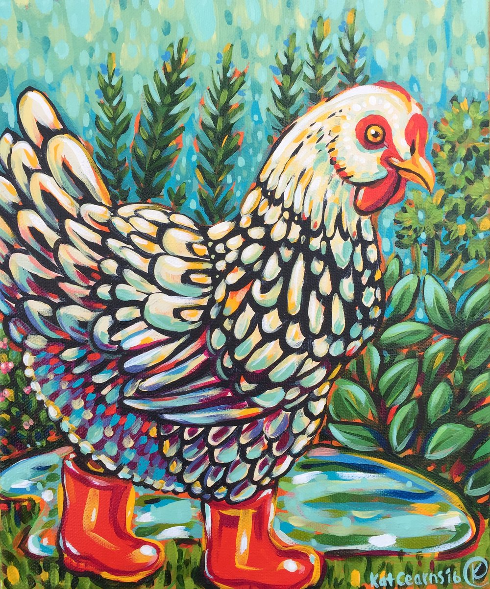 Rainy Day Chicken 2016. Sold