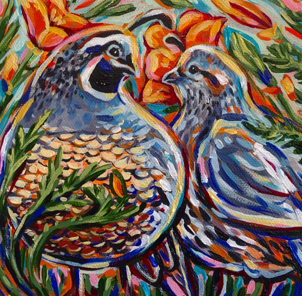 Colourfornia Quail 2016. Sold