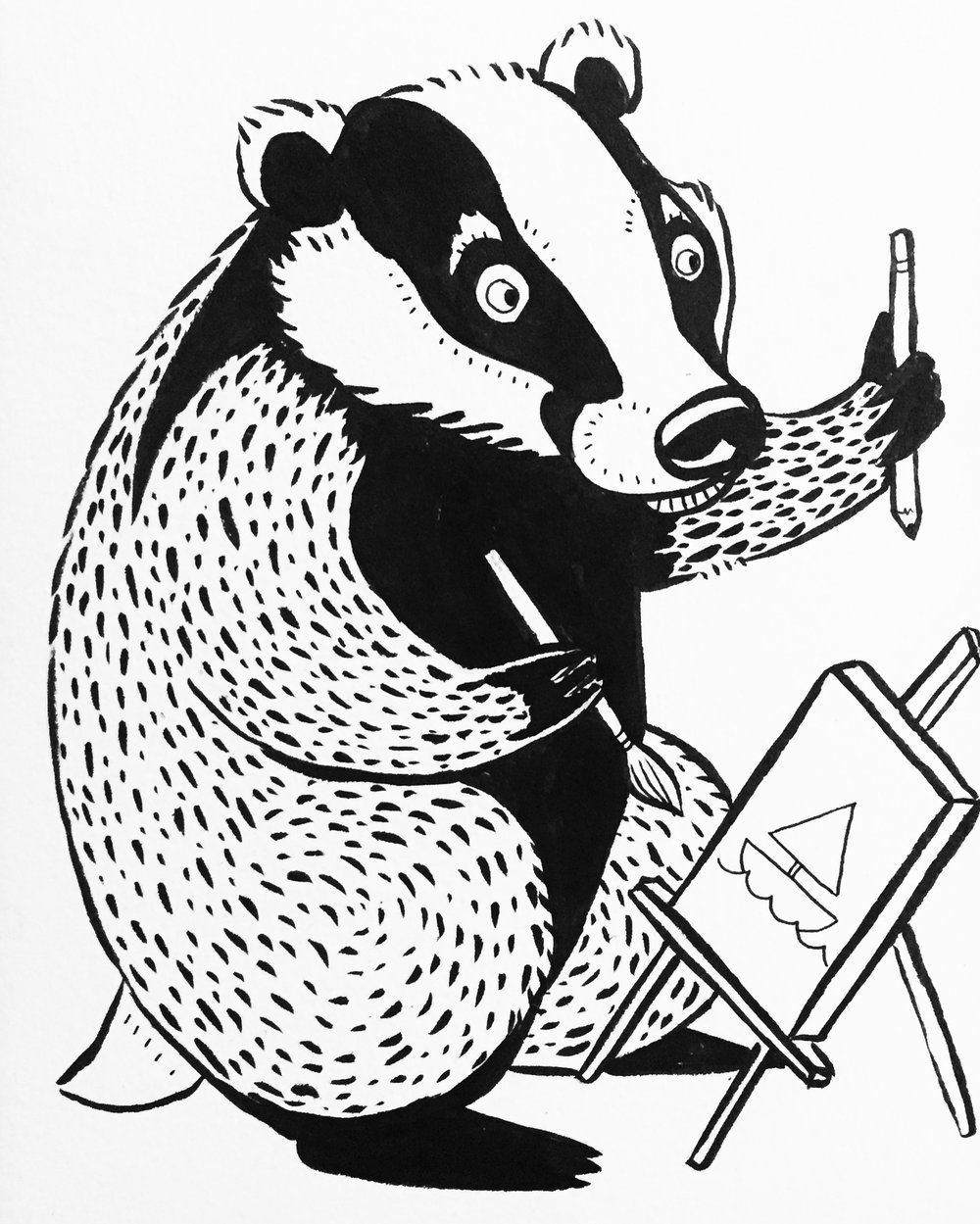 Artful Badger