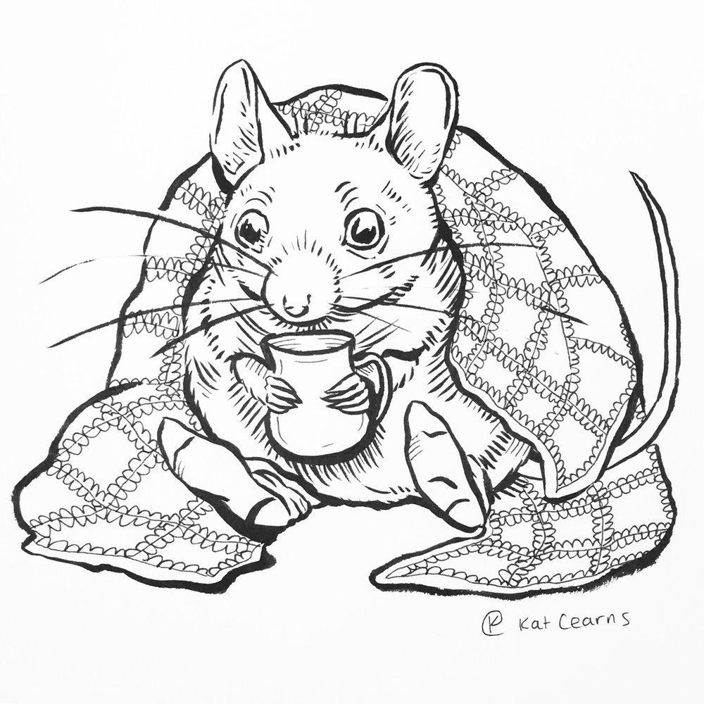 TV Binge-watching Mouse