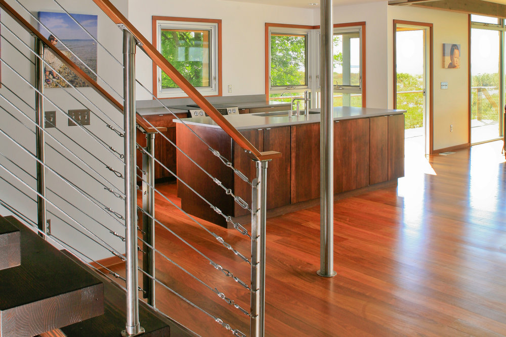 CARLSON CABANA KITCHEN HANDRAIL - OOMBRA ARCHITECTS