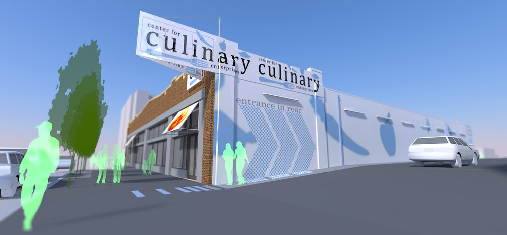 CENTER FOR CULINARY ENTERPRISES - DORRANCE H HAMILTON  EXTERIOR SIGNAGE