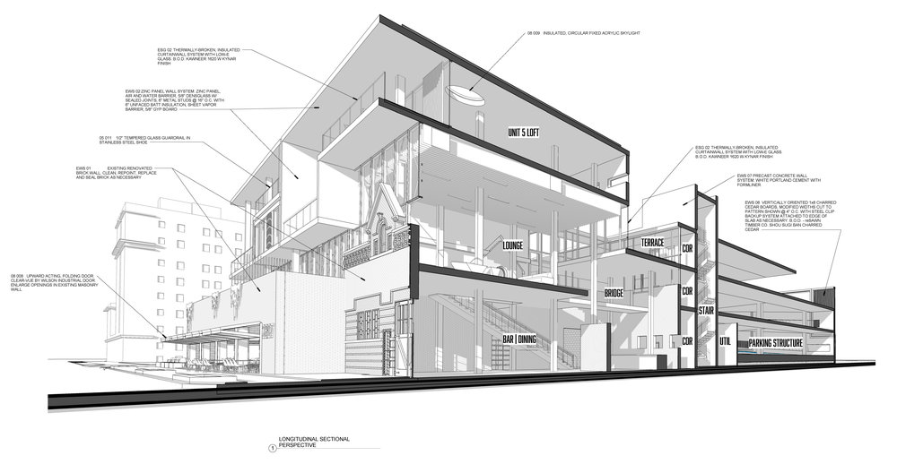 SECTIONAL PERSPECTIVE - OOMBRA ARCHITECTS ©