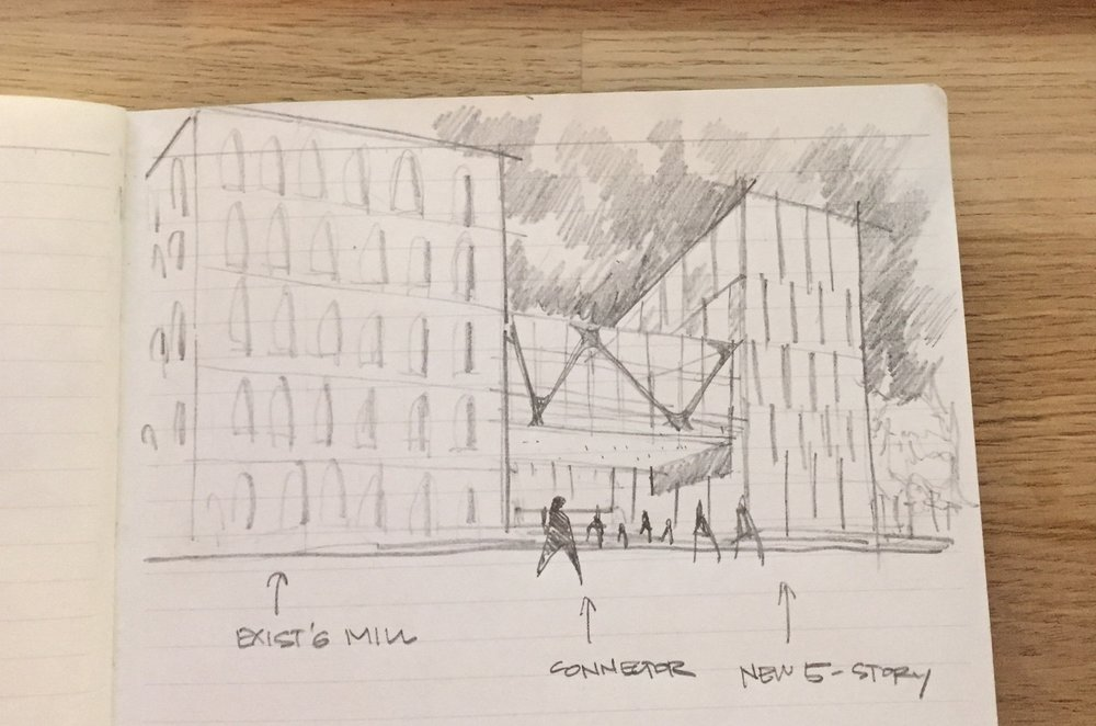 BRIDGE SKETCH - OOMBRA ARCHITECTS ©