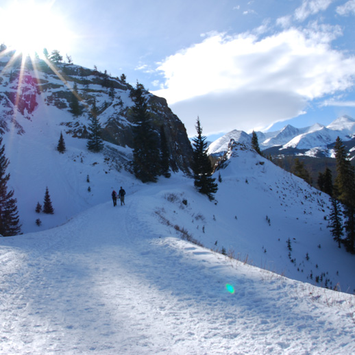 Boreas Pass - 21.5 Miles | Easy to ModerateComoAt the top of Boreas Pass, the ruins of the town of Boreas Station stand, showing the rich history of the area. Visitors will see Mt. Silverheels to the south. The top of Boreas Pass follows the same path as the Continental Divide. More Info >