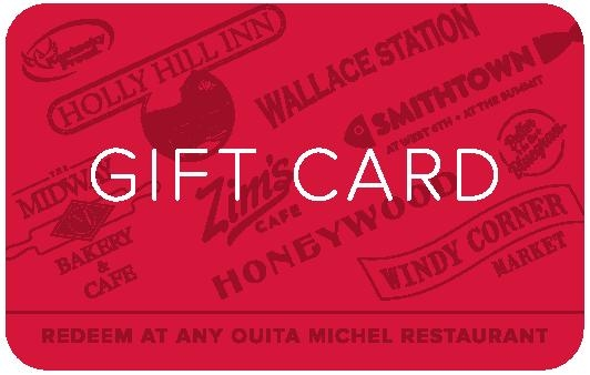 Give a gift card to Smithtown Seafood. Available and good at any of the Ouita Michel Family of Restaurants locations. -