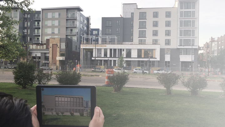 AR for Large Items - Our AR mobile app allows anyone to see future construction, restoration, and renovation of commercial and residential buildings in a realistic and engaging manner.