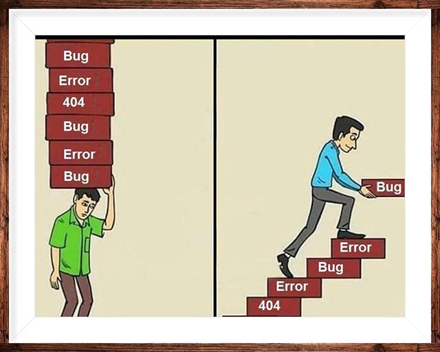 Unsuccessful vs. successful developer...