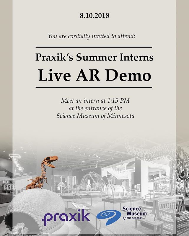 Wanna see what our amazing interns have been working on this summer? Come to their final presentation at @sciencemuseummn