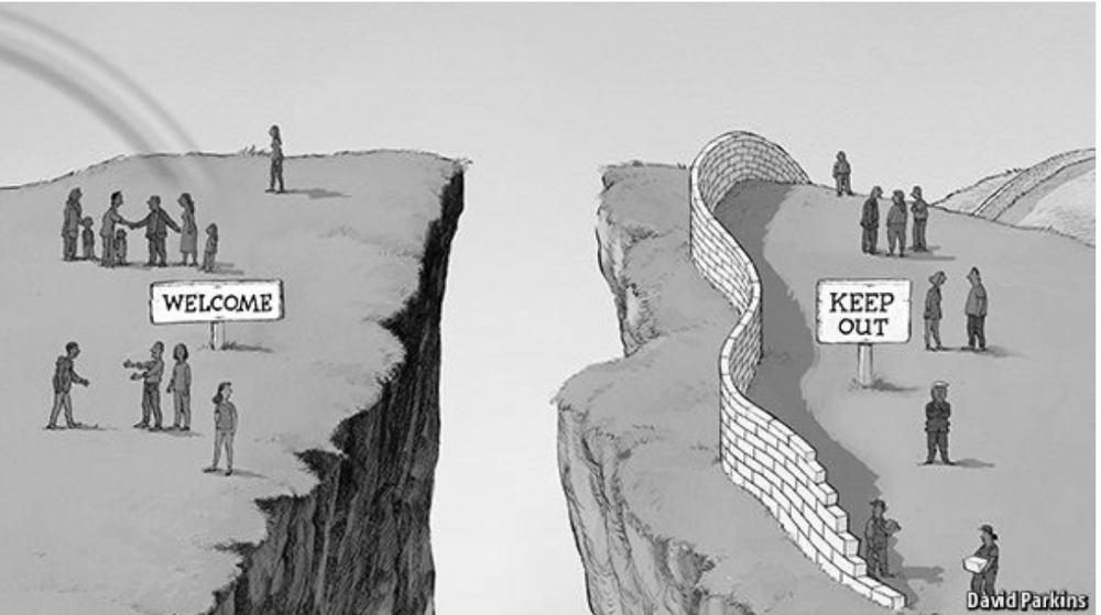 - Picture from The Economist describing the Open vs Closed political reality.