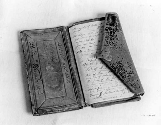Deacon Abraham Wismer's wallet. Credit: Jay Ruth
