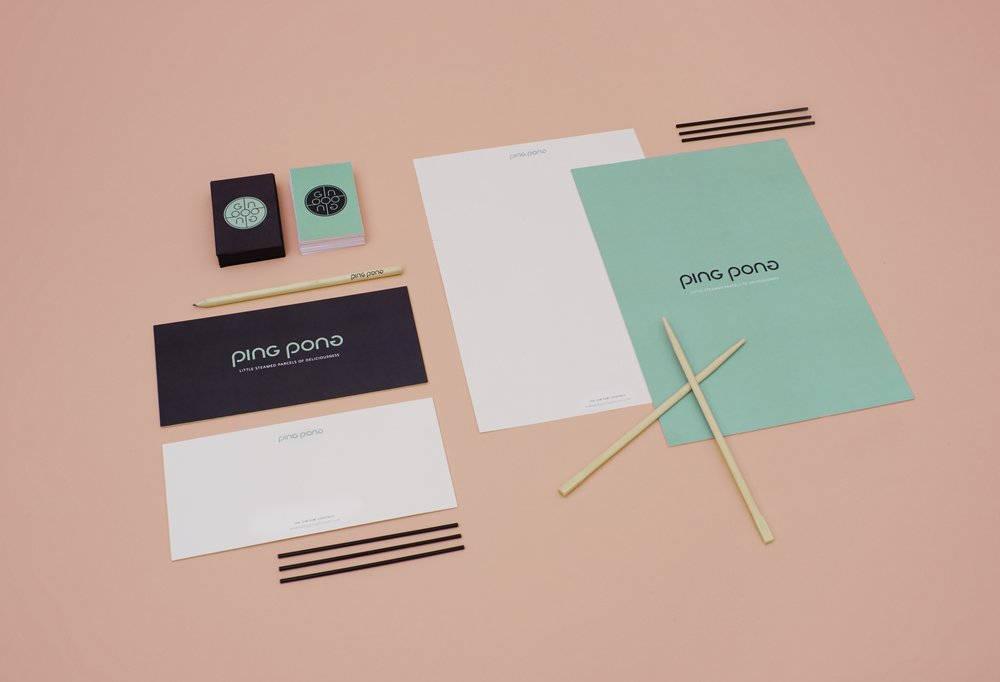 Ping Pong Logo brand guidelines design