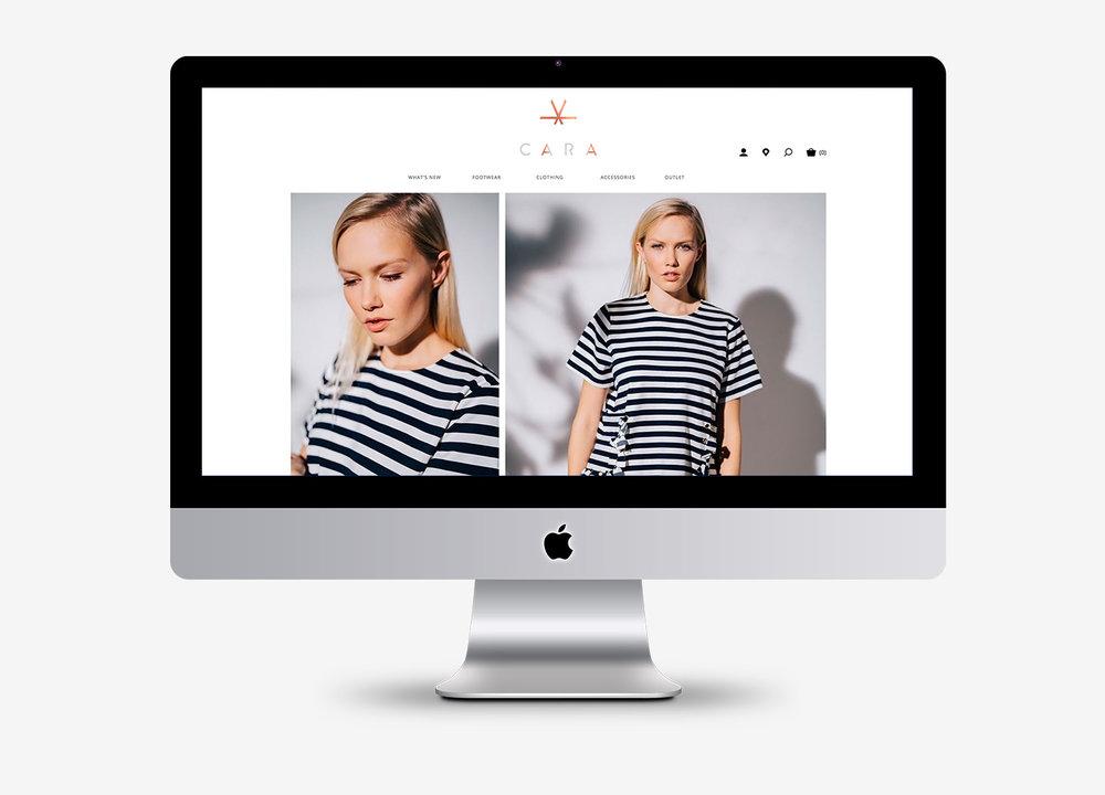 Cara Shoes logo design, brand guidelines