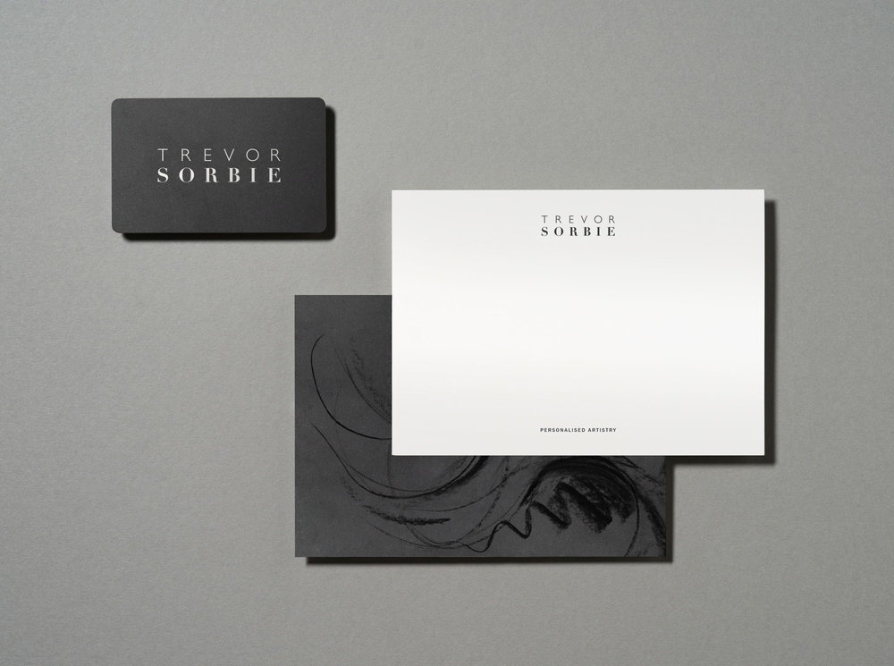 TREVOR SORBIE BUSINESS CARD BRAND DESIGN