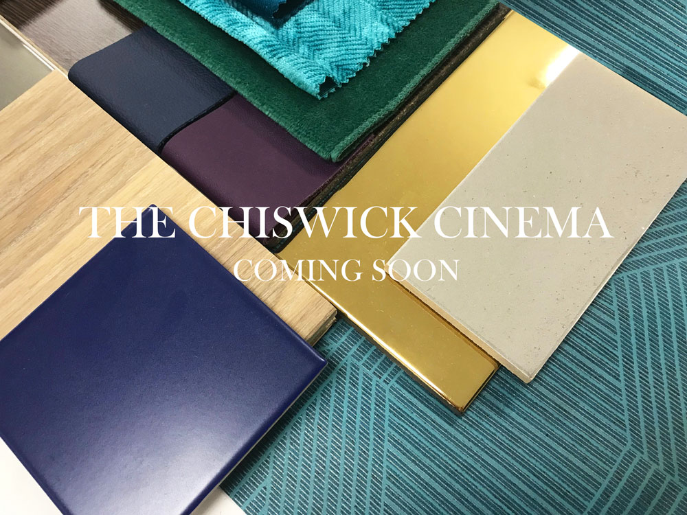 The Chiswick Cinema   Our exciting design collaboration with this independent cinema. Due to open in 2019, it will offer all day dining and memberships for exclusive screenings, a cocktail bar and a private screen