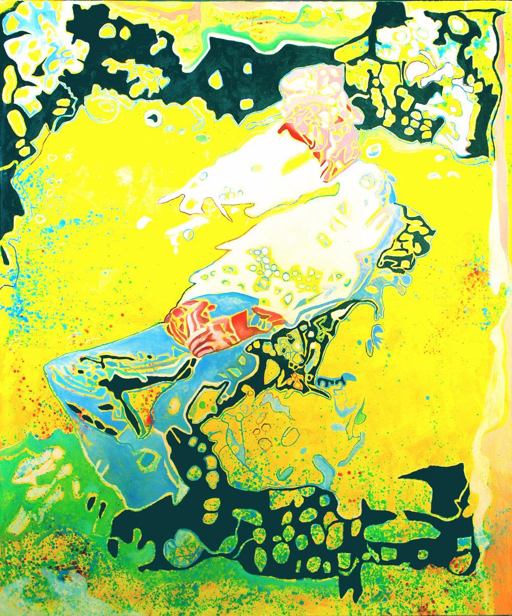 ENTSPANNT II 2012 Acryl/Öl auf Leinwand 180 x 150 cm