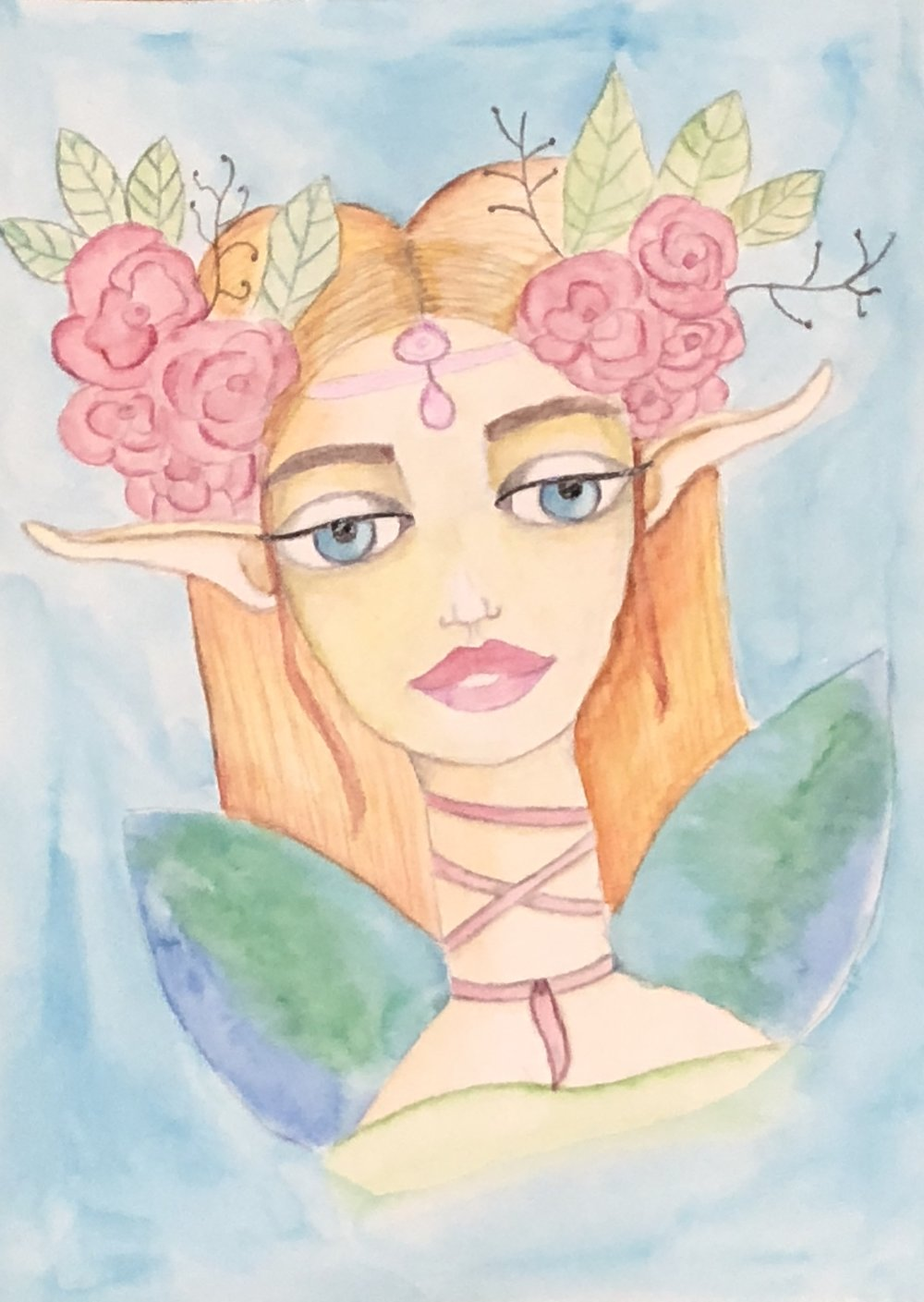 Watercolor faerie - lesson by Jenny Manno